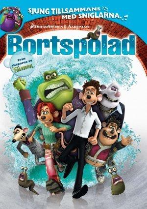 Bortspolad poster