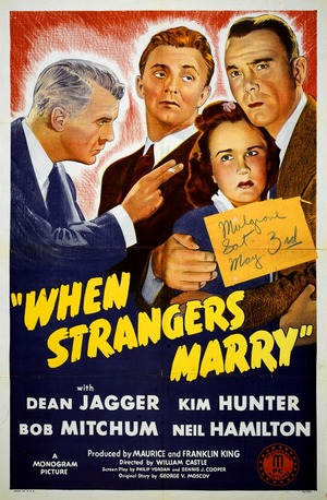 Gift med en främling poster