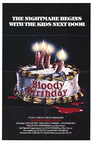 Blodig födelsedag poster