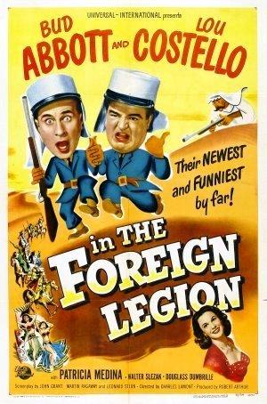 Abbott och Costello vid främlingslegionen poster