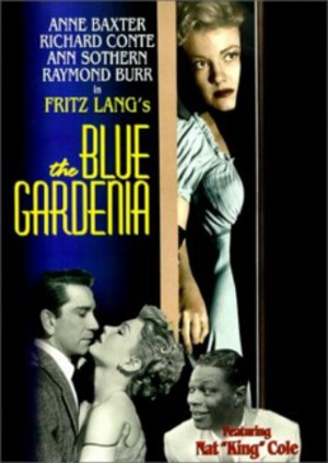 Blå gardenia poster
