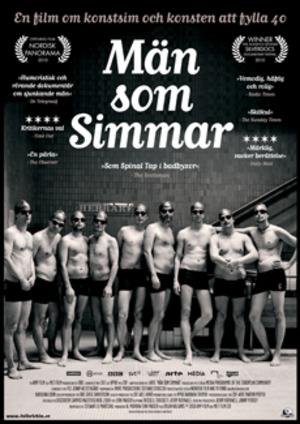 Män som simmar poster