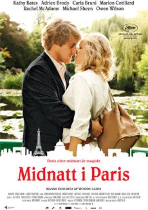 Midnatt i Paris poster