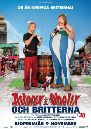 Asterix & Obelix och britterna poster